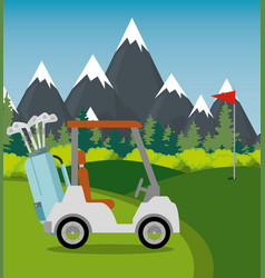 golf sport champions league vector image
