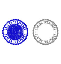 grunge cancer treatment scratched stamp seals vector image