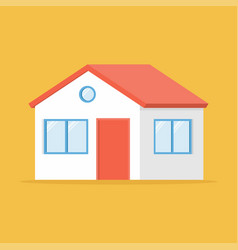 home facade with door and windows isolated on vector image