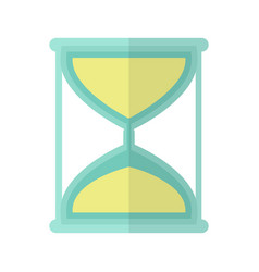 Hourglass icon in flat vector