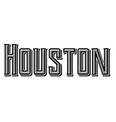 Houston typographic stamp vector
