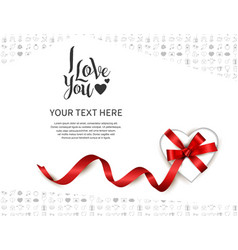 I love you design with gift box heart shape vector