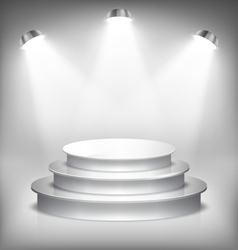 Illuminated Glossy Stage Podium to Place Product vector image