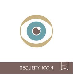 iris scan icon eye scanning vector image