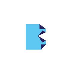 letter b logo design template elements paper vector image