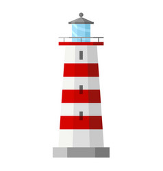 lighthouse sea and ocean icon seascape or vector image