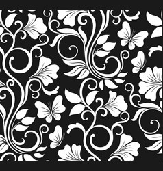 luxury seamless graphic background with flowers vector image