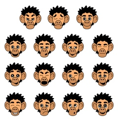 Monkey face expressions vector image