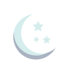 moon and stars grey moon and stars isolated vector image