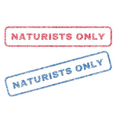naturists only textile stamps vector image