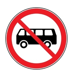 No bus sign vector