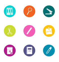 Paper icons set flat style vector