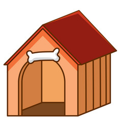 Pet house with red roon white background vector