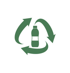 pet plastic bottle recycle symbol vector image