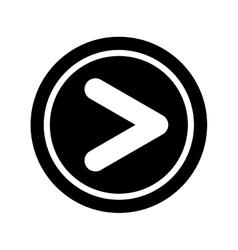 Play button interface icon vector