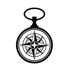 Pocket watch windrose vector