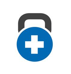 Positive plus fitness gym logo icon vector