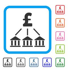 pound bank association framed icon vector image