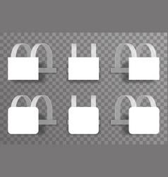 sale discount wobbler template blank plastic vector image