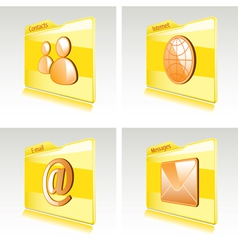 Set of folders vector image