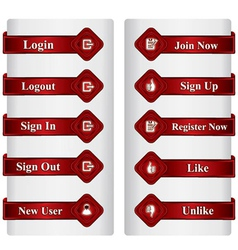 Set of web buttons vector