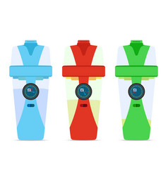smart hydrate bottles devices for fitness filter vector image