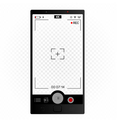 Smartphone camera vertical viewfinder vector