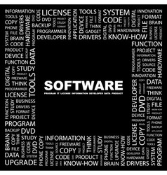 SOFTWARE vector image