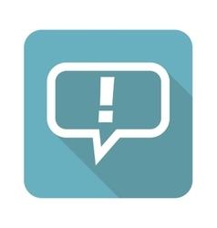 Square answer icon vector image