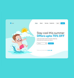 summer offers landing page vector image
