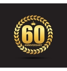 Template Logo 60 Years Anniversary vector image