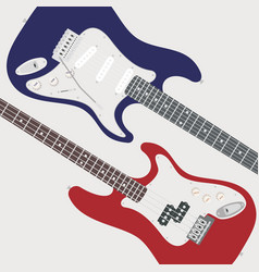 Two electric guitars vector