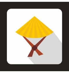 Vietnamese hat icon flat style vector