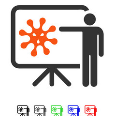 Virus lecture flat icon vector