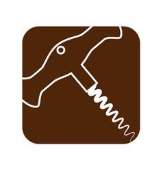 Wine corkscrew isolated vector