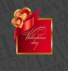 golden luxury hearts frame vector image vector image