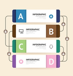 Modern infographic banner with line design vector image vector image
