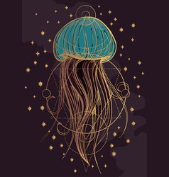 Most jellyfish poster the inhabitants of the deep vector