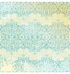 vintage beige and turquoise floral seamless vector image