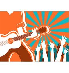rock musician concert background poster vector image vector image