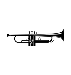 Trumpet icon black simple style vector image vector image