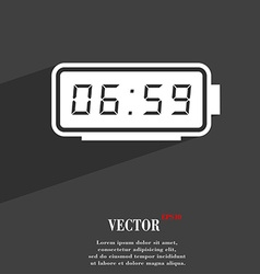 alarm clock symbol Flat modern web design with vector image
