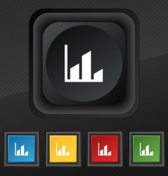 Chart icon symbol Set of five colorful stylish vector image