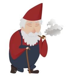 classic gnome smoking vector image