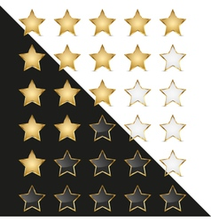 Elegant Golden Rating Stars vector image vector image