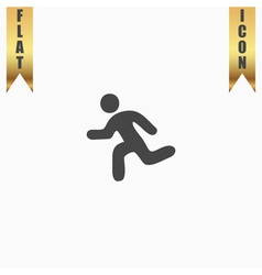 Running flat icon vector image