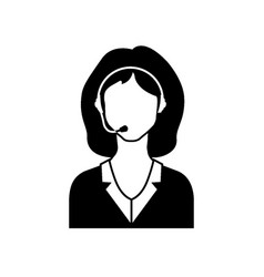 call center female avatar icon vector image