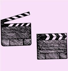 Clapper board cinema vector