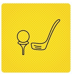 Golf club icon Golfing sport sign vector image