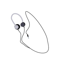 Headphones or Headphones on A White Background vector image vector image